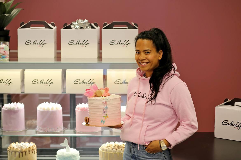 SMAK: Om Kristina Mejia selv skulle ha valgt seg en kake fra menyen ville hun valgt syrlige Pink Delight.